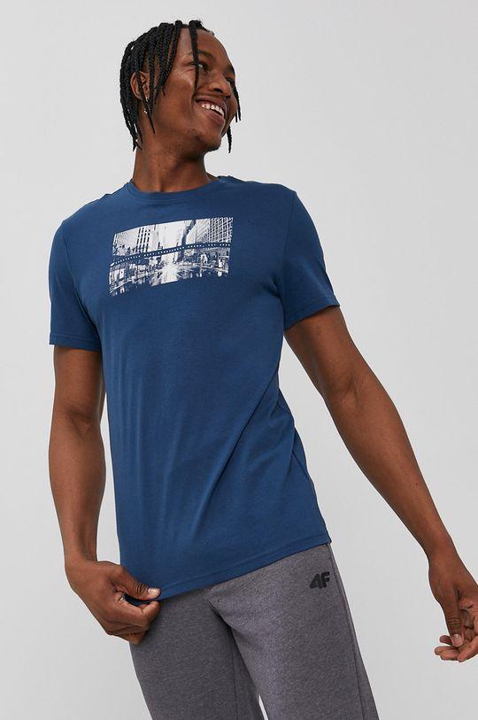 oceľová modrá 4F - Tričko Pánsky