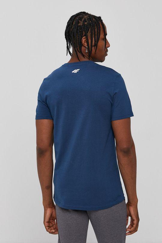 4F - Tričko oceľová modrá