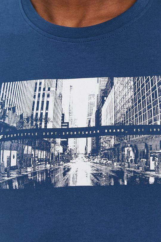 oceľová modrá 4F - Tričko