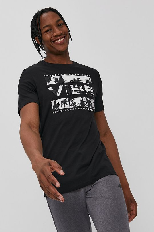 čierna 4F - Tričko Pánsky