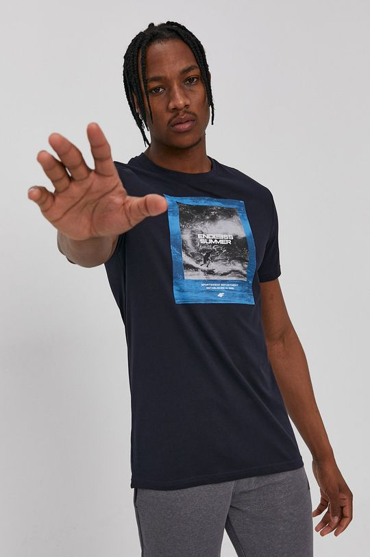 tmavomodrá 4F - Tričko Pánsky