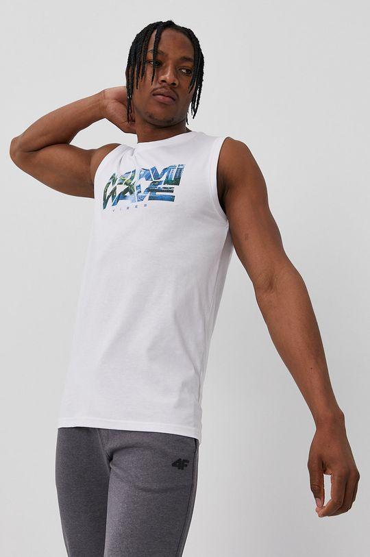 biały 4F - T-shirt Męski
