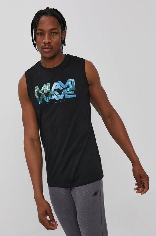 czarny 4F - T-shirt Męski