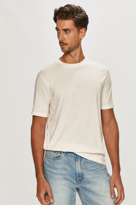 biały Scotch & Soda - T-shirt Męski
