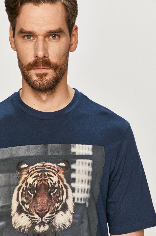 granatowy Only & Sons - T-shirt Męski