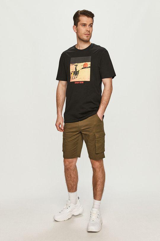 czarny Only & Sons - T-shirt Męski