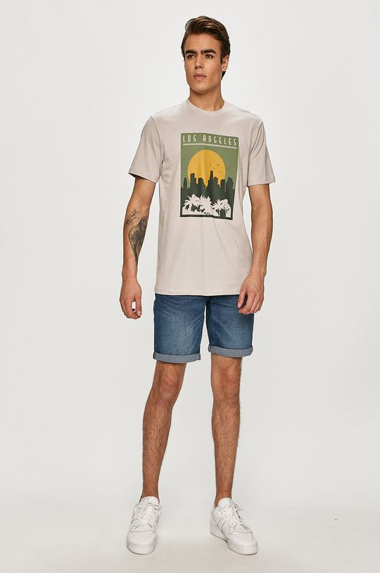 Only & Sons - Tricou gri deschis