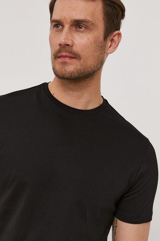 czarny Baldessarini - T-shirt Męski