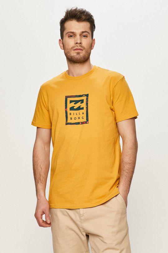hořčicová Billabong - Tričko Pánský