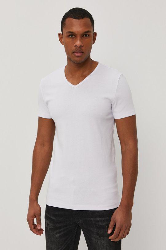biały Mustang - T-shirt Męski