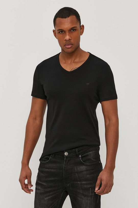 czarny Mustang - T-shirt Męski