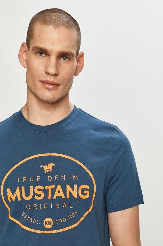 tmavomodrá Mustang - Tričko