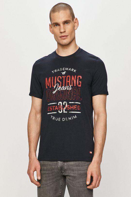 granatowy Mustang - T-shirt Męski