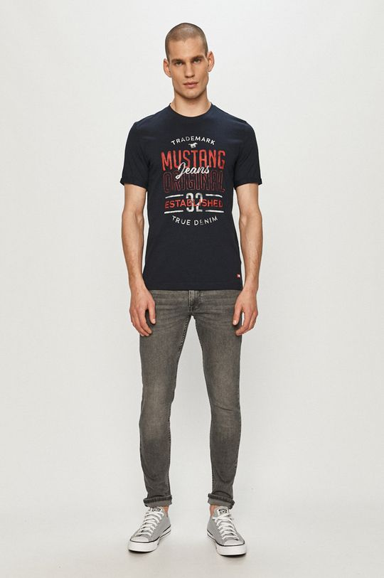 Mustang - T-shirt granatowy