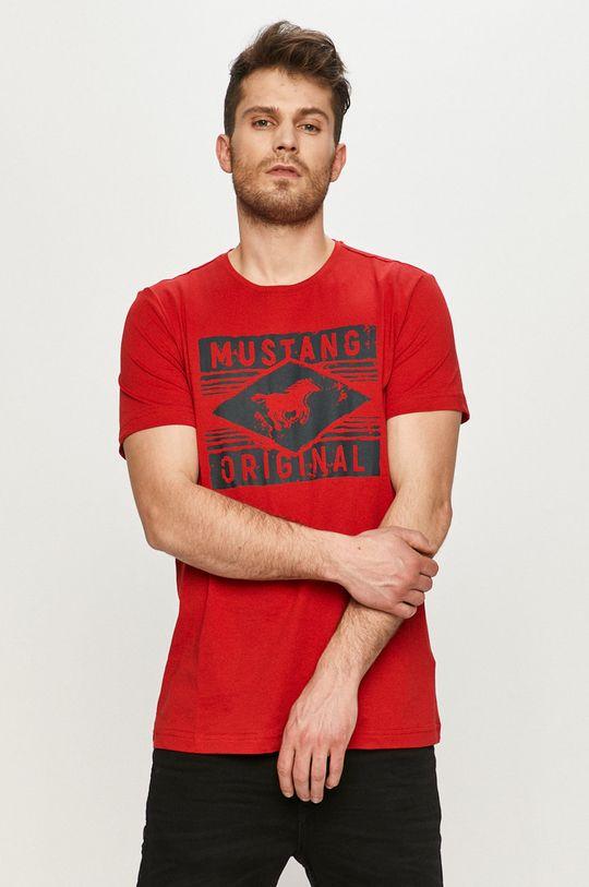czerwony Mustang - T-shirt Męski