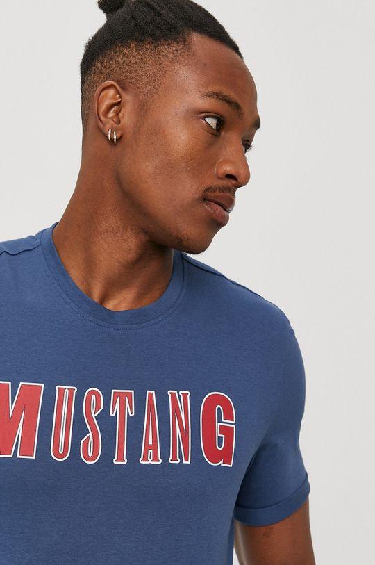 tmavomodrá Mustang - Tričko Pánsky