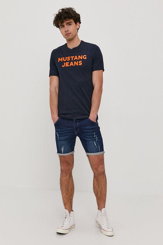 Mustang - Tričko námořnická modř