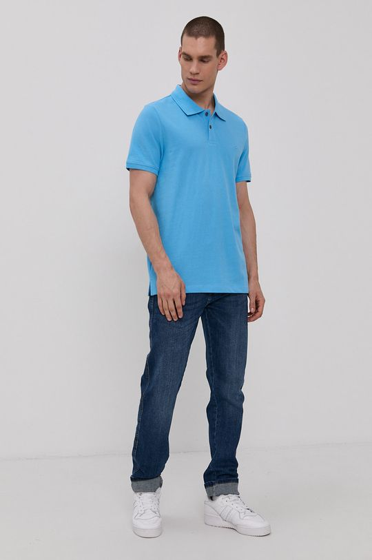 Mustang - Polo tričko modrá