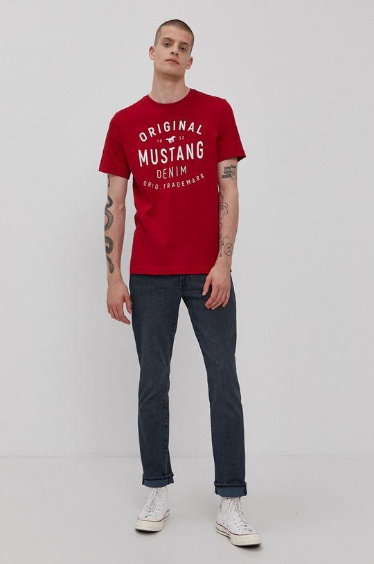 Mustang - T-shirt czerwony