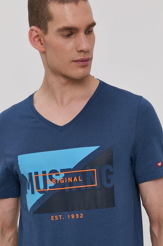 námořnická modř Mustang - Tričko