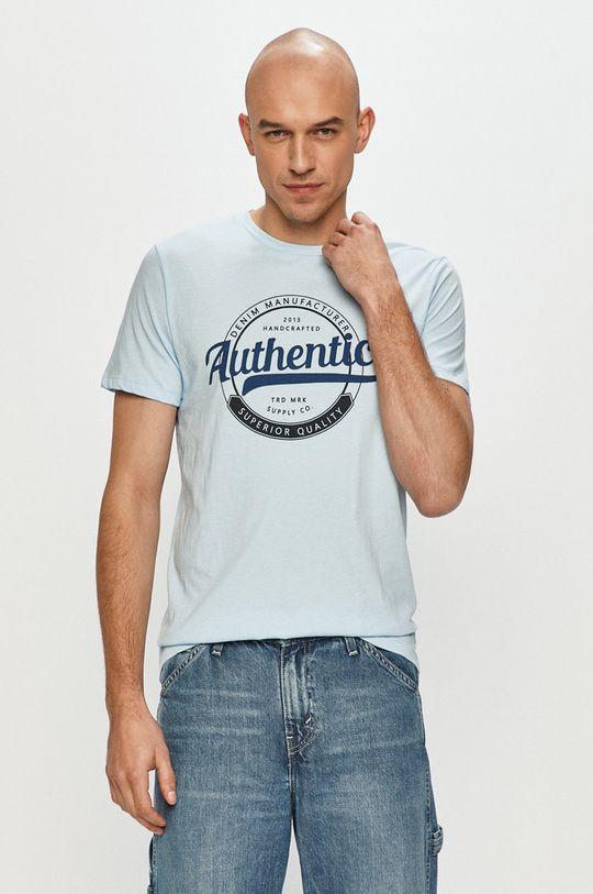 niebieski Produkt by Jack & Jones - T-shirt Męski