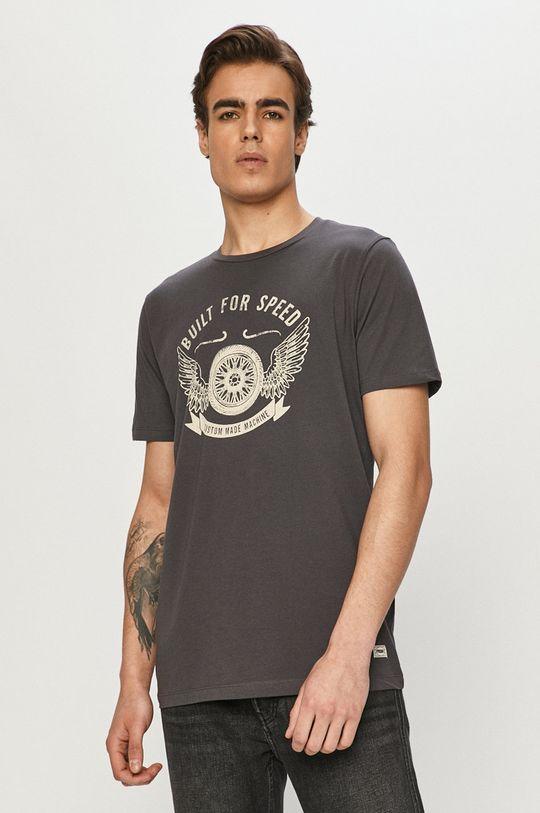 grafitowy Produkt by Jack & Jones - T-shirt Męski