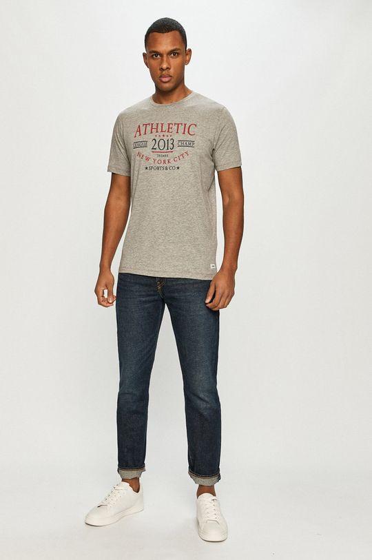 Produkt by Jack & Jones - T-shirt jasny szary