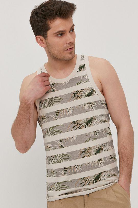kremowy Produkt by Jack & Jones - T-shirt Męski