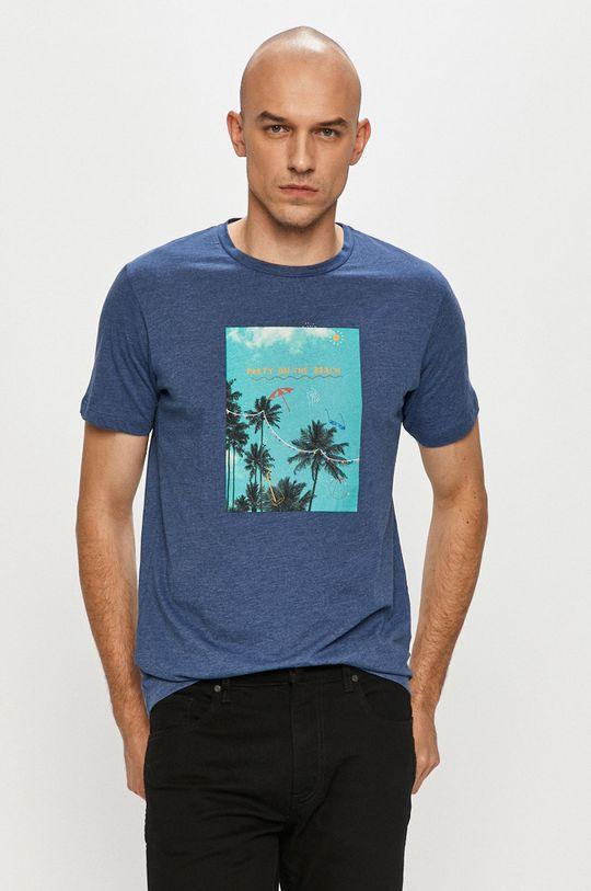 modrá Produkt by Jack & Jones - Tričko Pánsky