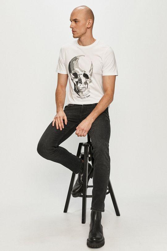alb Produkt by Jack & Jones - Tricou De bărbați