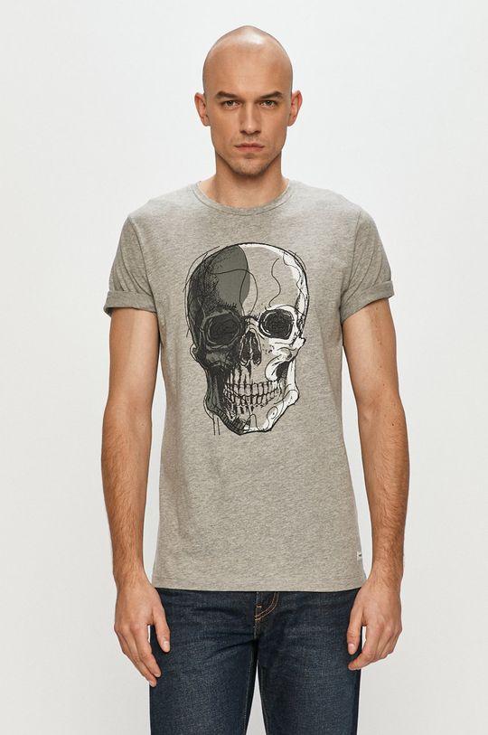 světle šedá Produkt by Jack & Jones - Tričko Pánský