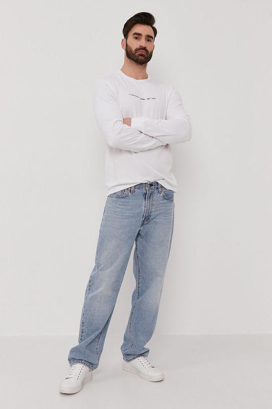 Diesel - Tričko s dlouhým rukávem bílá