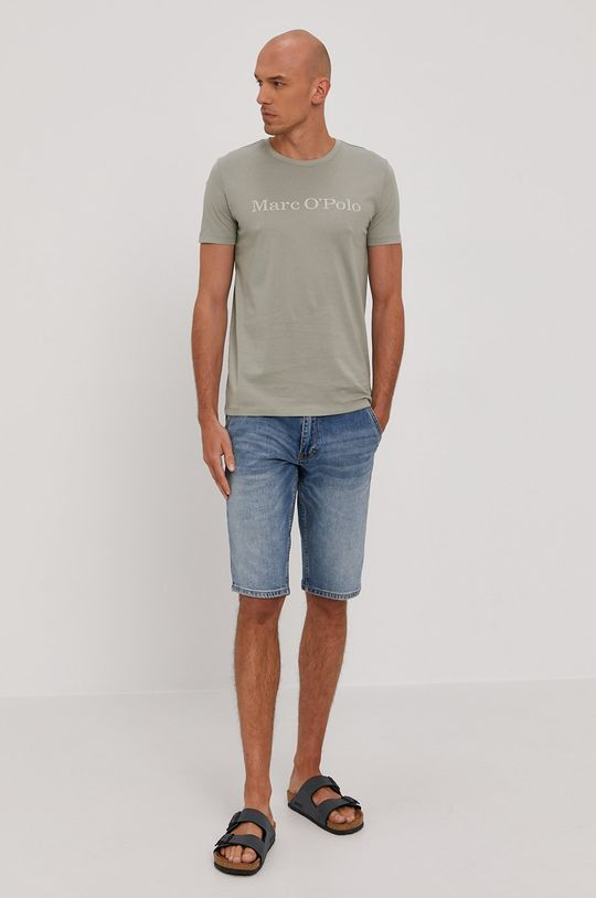 Marc O'Polo - T-shirt jasny oliwkowy