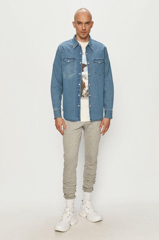 Trussardi Jeans - T-shirt kremowy
