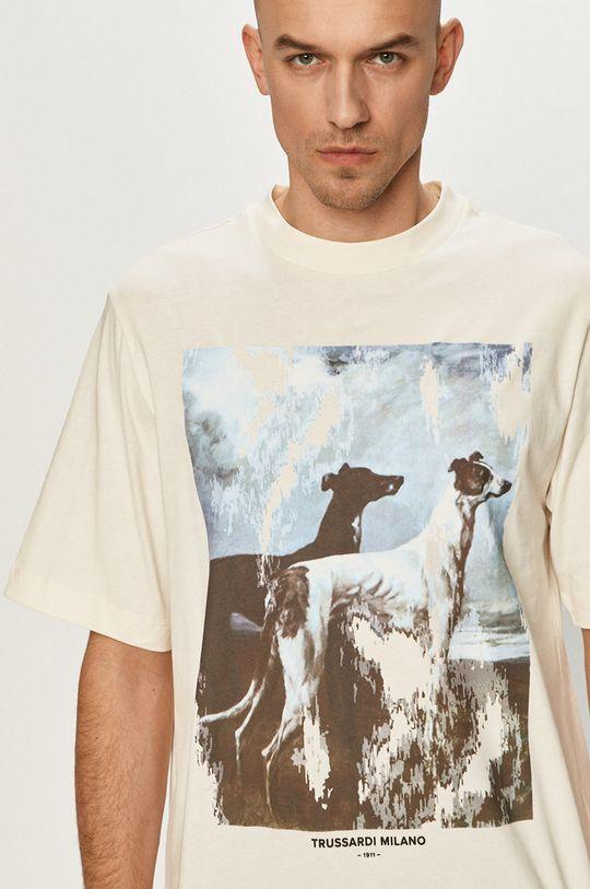 kremowy Trussardi Jeans - T-shirt