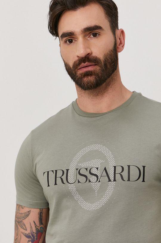 tyrkysová Trussardi Jeans - Tričko Pánský