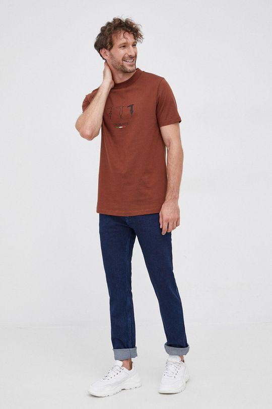 Trussardi Jeans - T-shirt brązowy