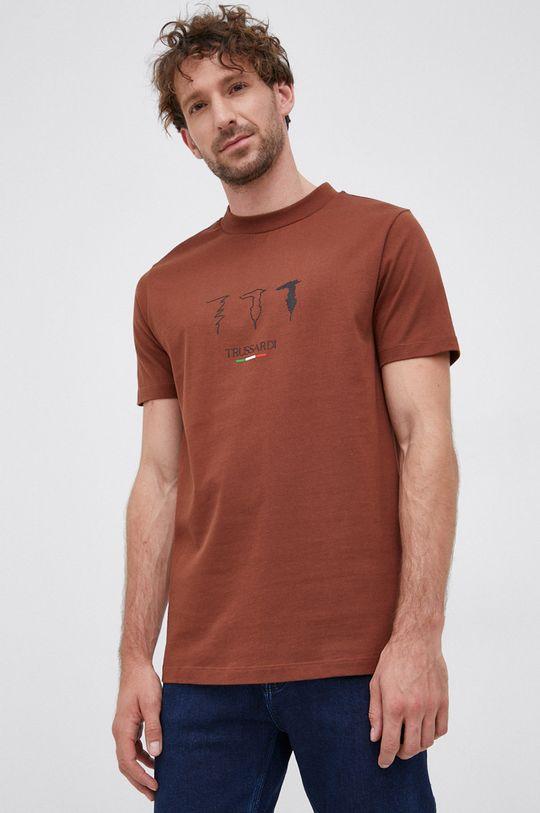 brązowy Trussardi Jeans - T-shirt