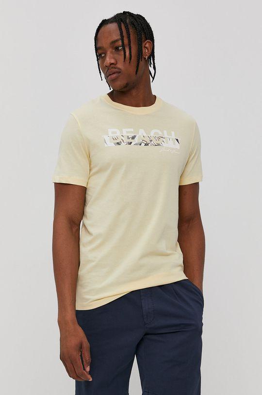 galben Jack & Jones - Tricou De bărbați