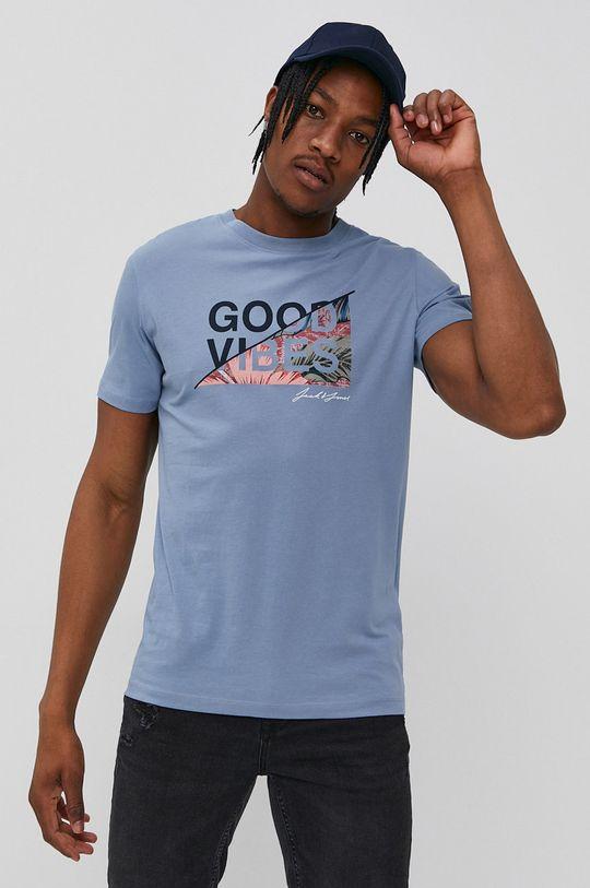 niebieski Jack & Jones - T-shirt Męski