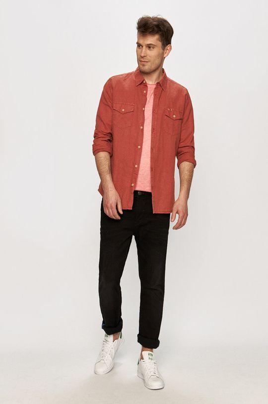 Jack & Jones - Tričko fialovo-růžová
