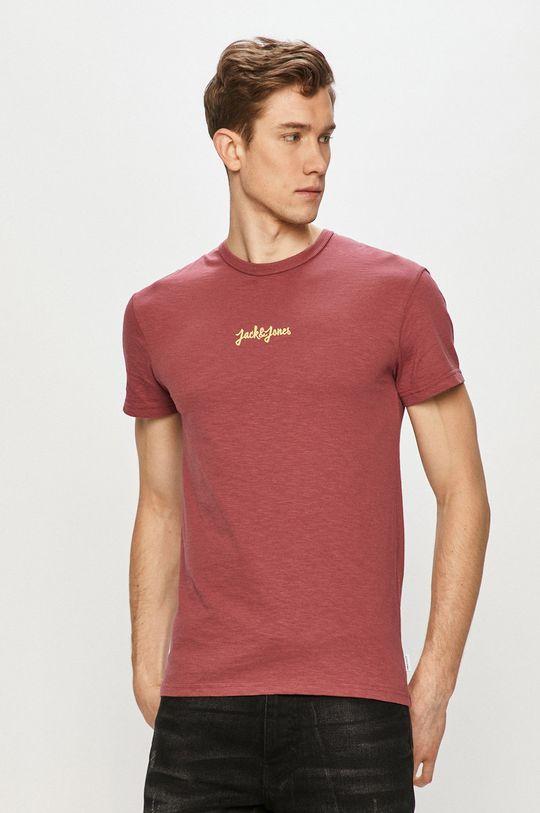 ružovofialová Jack & Jones - Tričko Pánsky