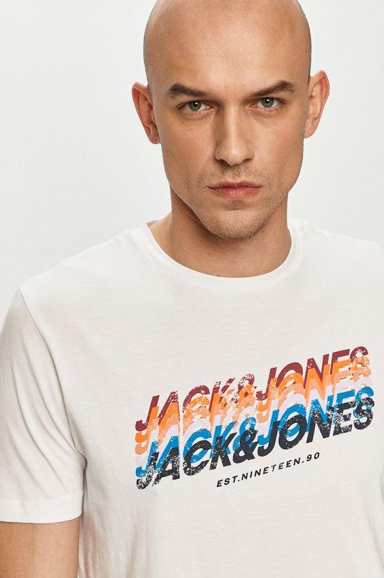 alb Jack & Jones - Tricou