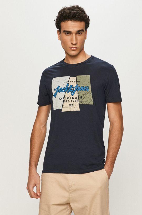 námořnická modř Jack & Jones - Tričko Pánský