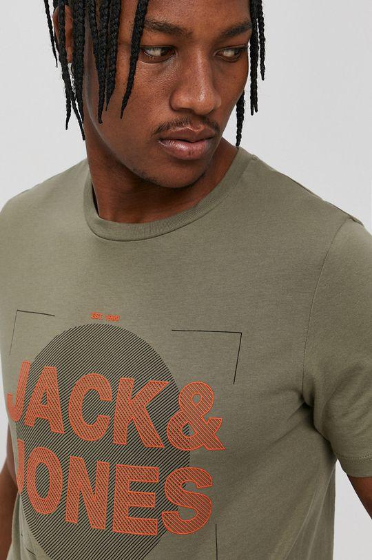 Jack & Jones - T-shirt oliwkowy