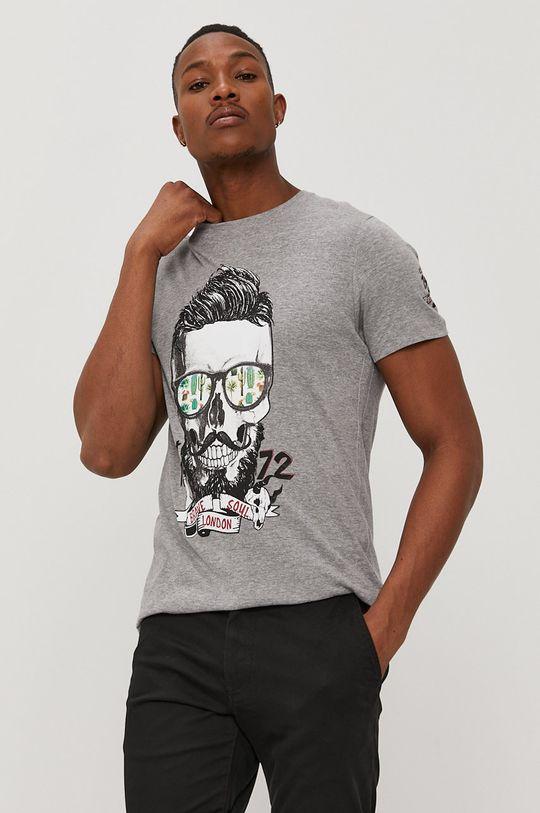 jasny szary Brave Soul - T-shirt Męski