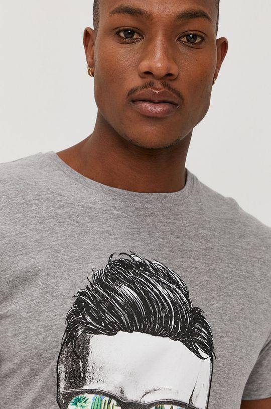 jasny szary Brave Soul - T-shirt