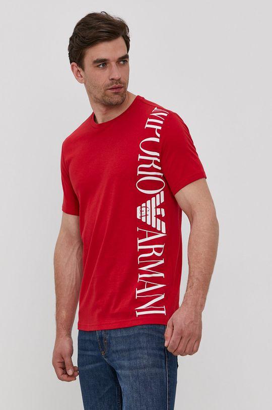 červená Emporio Armani - Tričko Pánsky