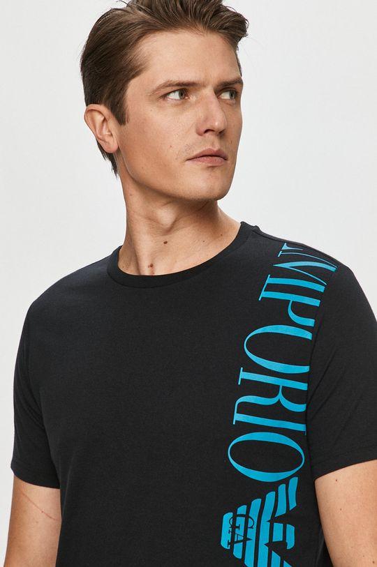 czarny Emporio Armani - T-shirt Męski