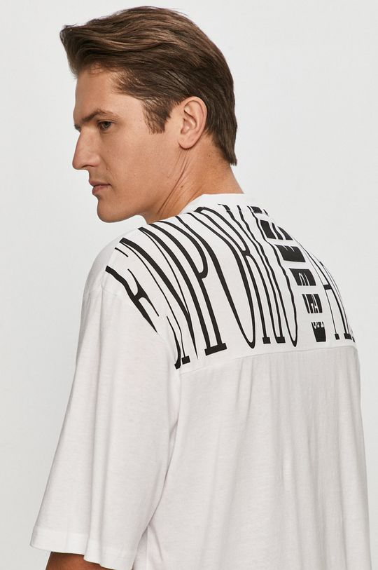 biały Emporio Armani - T-shirt Męski